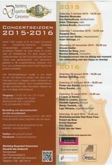 Programma seizoen 2015 - 2016