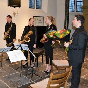 Concertfoto's – Zaterdag 4 november 2017 - Ebonit saxofoonkwartet