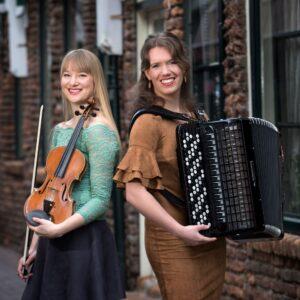13 februari concert met Quirine van Hoek (viool) en Ellen van Zijm (accordeon)